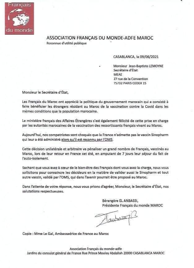 Non admission du vaccin de Sinopharm en France : les Français du Maroc réagissent