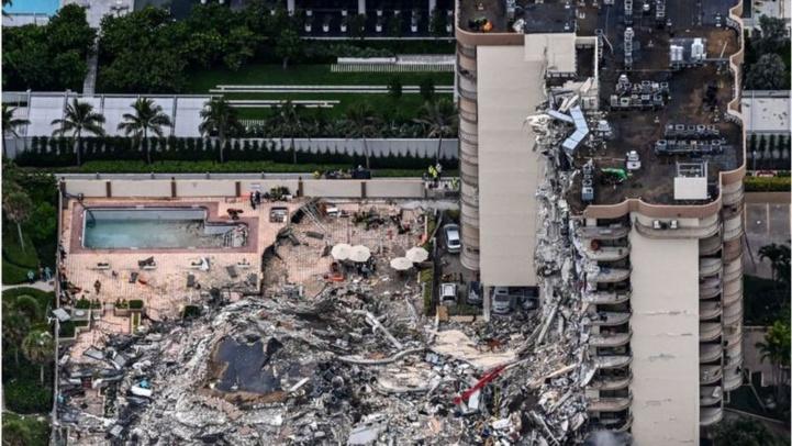 Effondrement d'un immeuble à Miami : Cinq morts, 156 personnes portées disparues