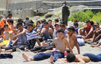 Migration:  1.128 mineurs marocains toujours à Sebta