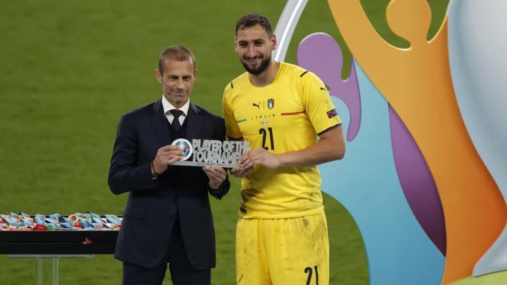 Les distinctions individuelles de l'UEFA :Donnarumma,  Rolando et Pedri