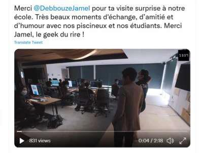 Jamel Debbouz rend visite aux geeks de 1337 !