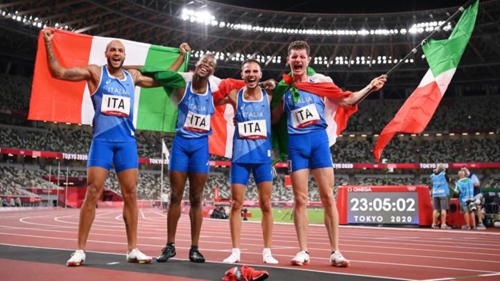 JO - Athlétisme / Relais 4x100 : Les Italiens médaillés d'or devant les Britanniques et les Canadiens
