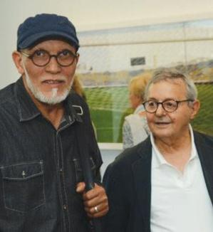 Lucien Amiel avec l'artiste peintre Rabï.