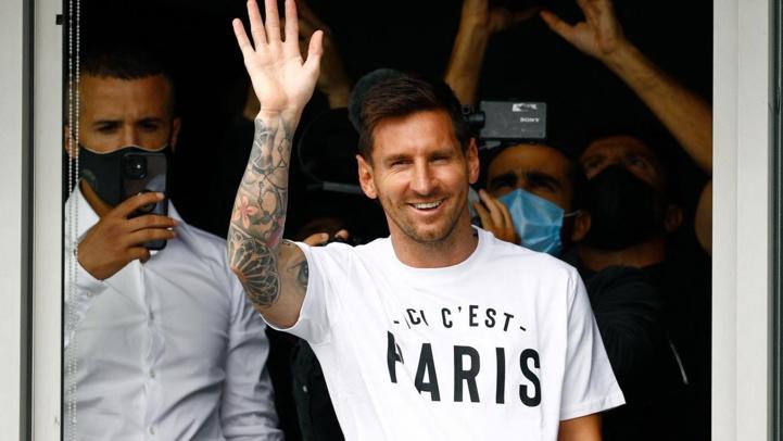 Messi est arrivé à Paris