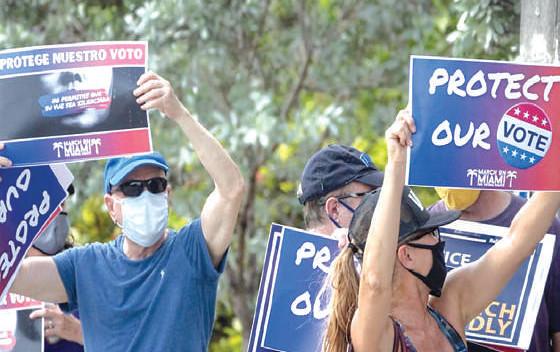 USA : Manifestations contre les restrictions du droit de vote des minorités