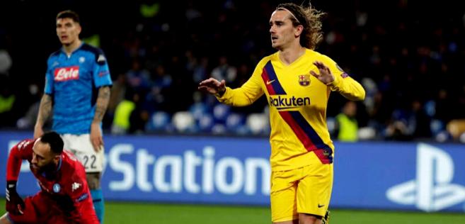 Le Barça sauvé par Griezmann à Naples
