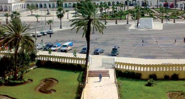 Place Mohammed V au centre de Bejâad
