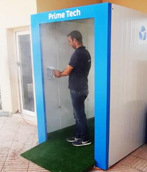 Une cabine de désinfection 100% marocaine