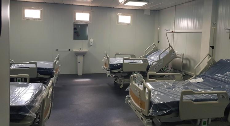Vue d'une chambre de confinement