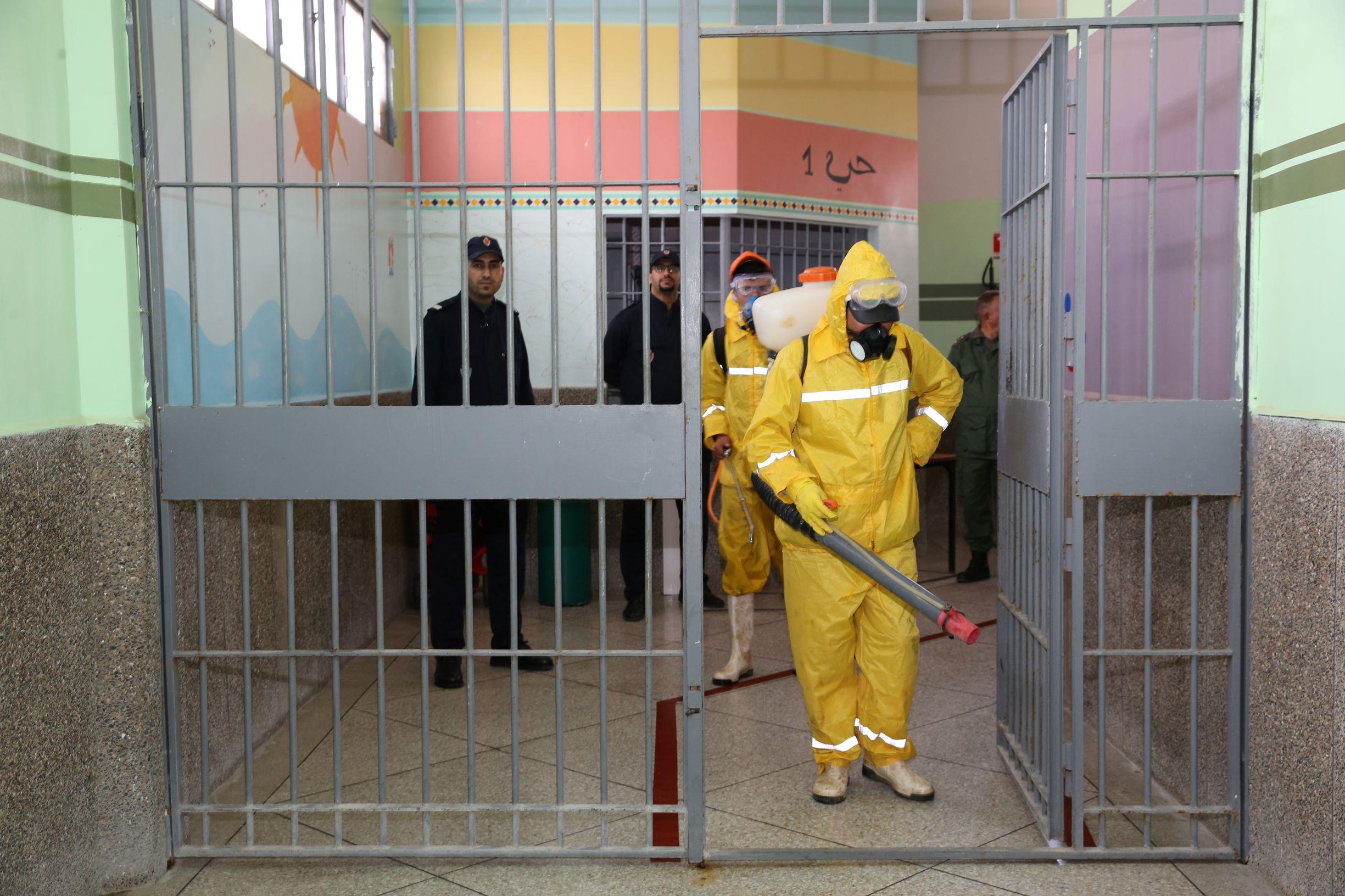 Opération de désinfection au sein de la prison de Taourirt