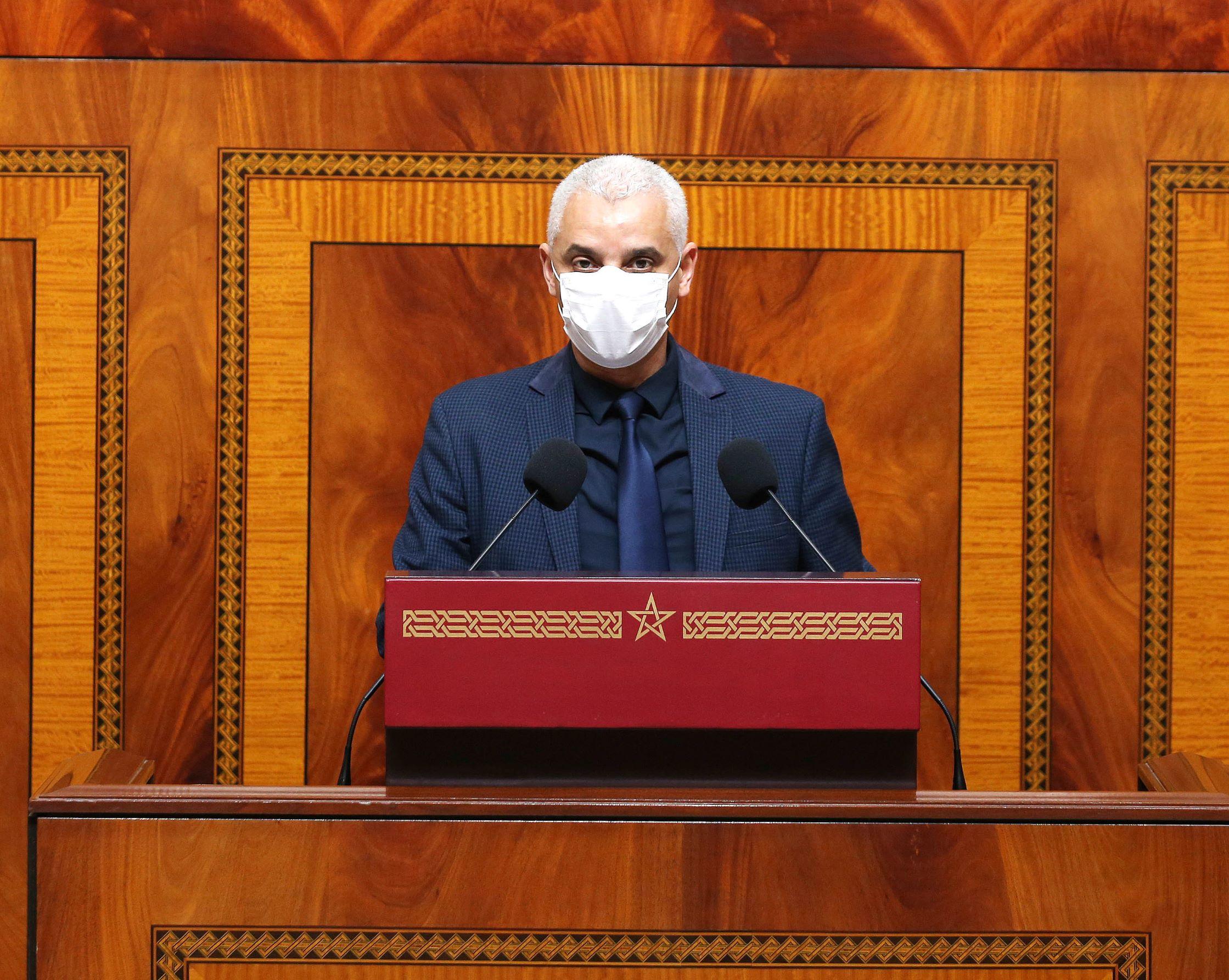 Khalid Aït Taleb, lors de la séance des questions orales à la Chambre des représentants.