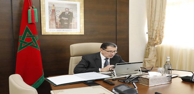 El Otmani lors d'une réunion du Conseil de gouvernement.