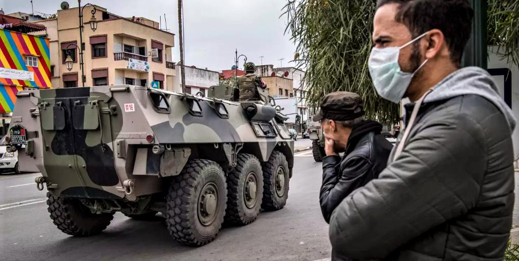 Rabat, le 22 mars 2020, aprés la déclaration de l'état d'urgence sanitaire. (Ph. Fadel Senna /AFP)