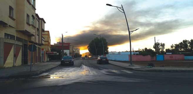 Une fumée géante se dégage chaque soir de la « Joutiya » située au sud de Sidi Bennour