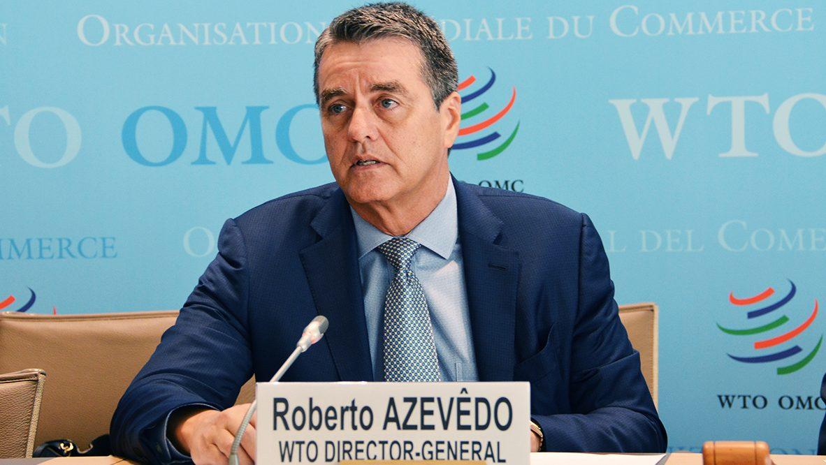 Roberto Azevedo, directeur général de l'Organisation mondiale du commerce.