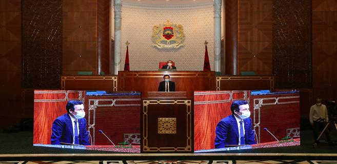 Mohamed Benchaâboun lors de la séance des questions orales à la Chambre des conseillers
