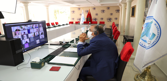 M. El Mekki Gaouane, lors du Débat à distance sur le rôle de l'opposition dans la gestion de la crise du Covid-19.
