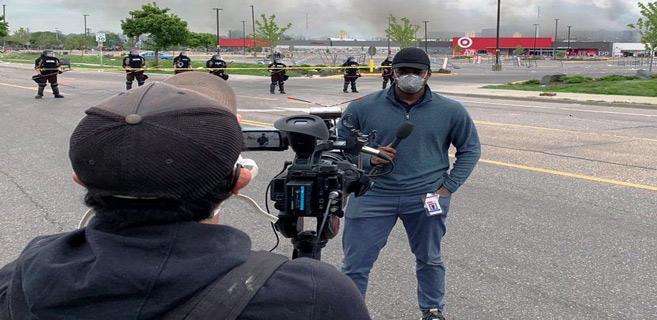 Mort de George Floyd: les journalistes trinquent