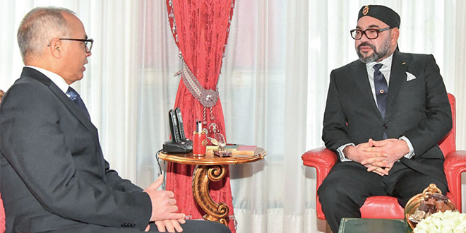 Chakib Benmoussa, président de CSMD reçu par SM le Roi Mohammed VI, le mardi 19 novembre 2019 au Palais Royal à Rabat