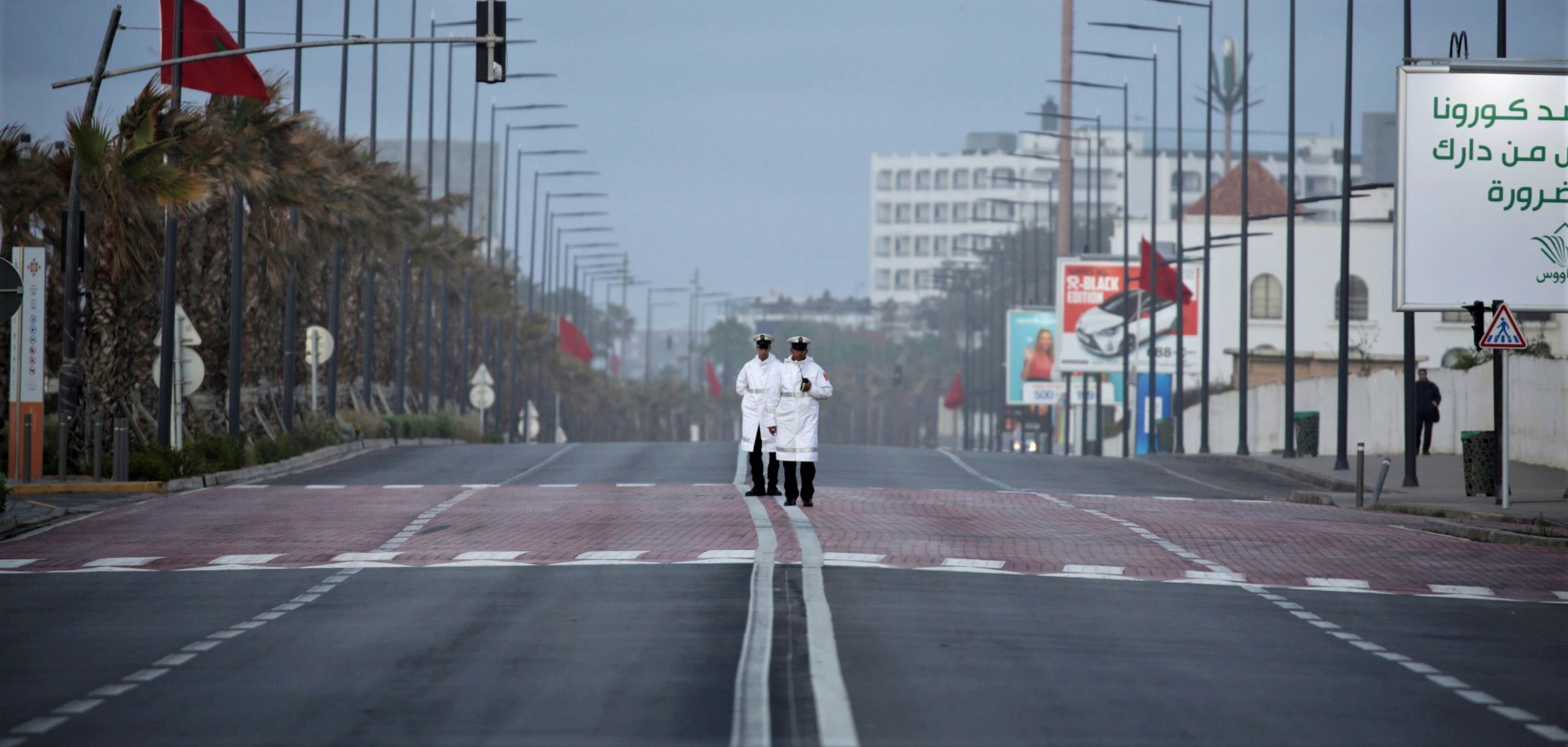 """La ville de Casablanca en mode """"confinement""""."""