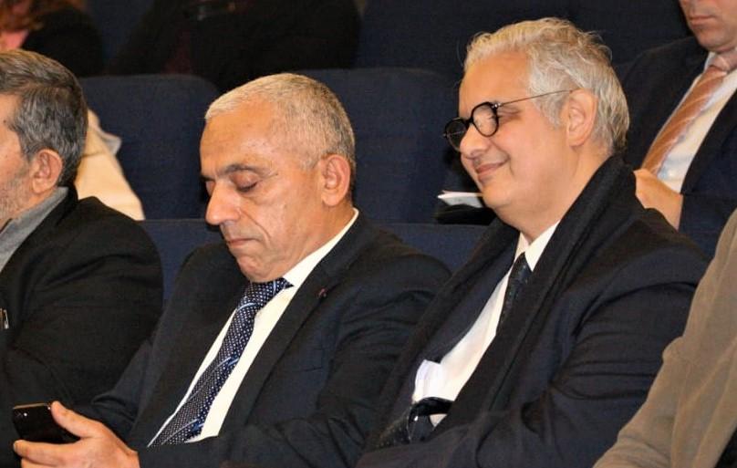 Messieurs Nizar Baraka et Abdellatif Mâazouz lors d'une précédente réunion organisée par l'AEI à Casablanca