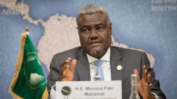 Moussa Faki Mahamat, président de la Commission de l'Union africaine.