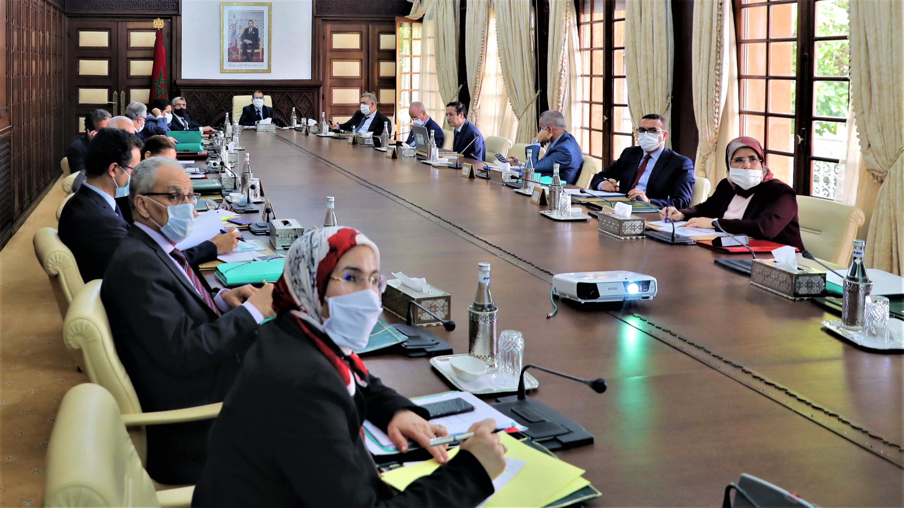 Réunion du Conseil de gouvernement sous la présidence du Chef du gouvernement, Saad Dine El Otmani.