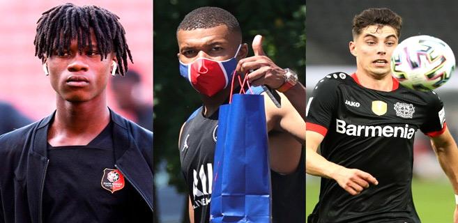 Camavinga, Mbappé et Havertz.