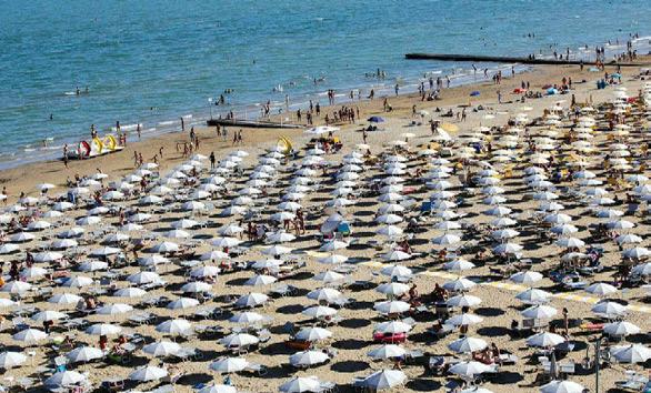 Plage désertes en Italie