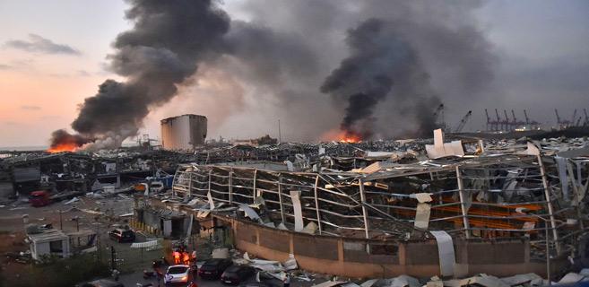 Le Liban sinistré : Journée d 'Apocalypse à Beyrouth
