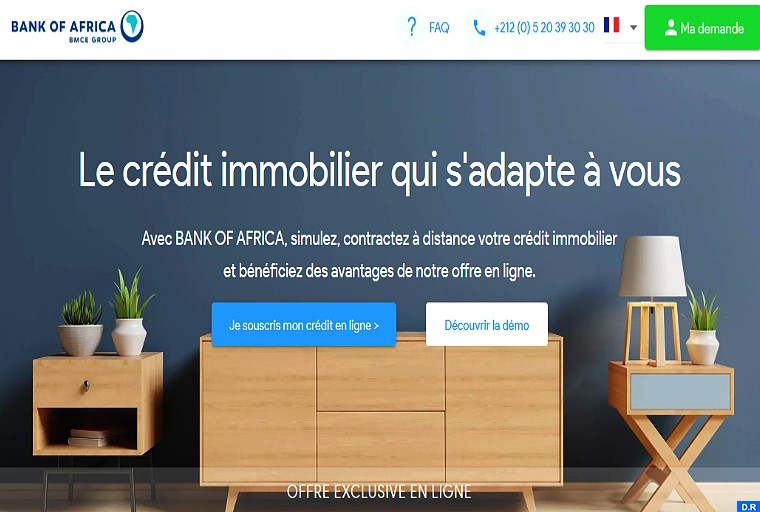 "Bank Of Africa lance ""credithabitat.ma"""
