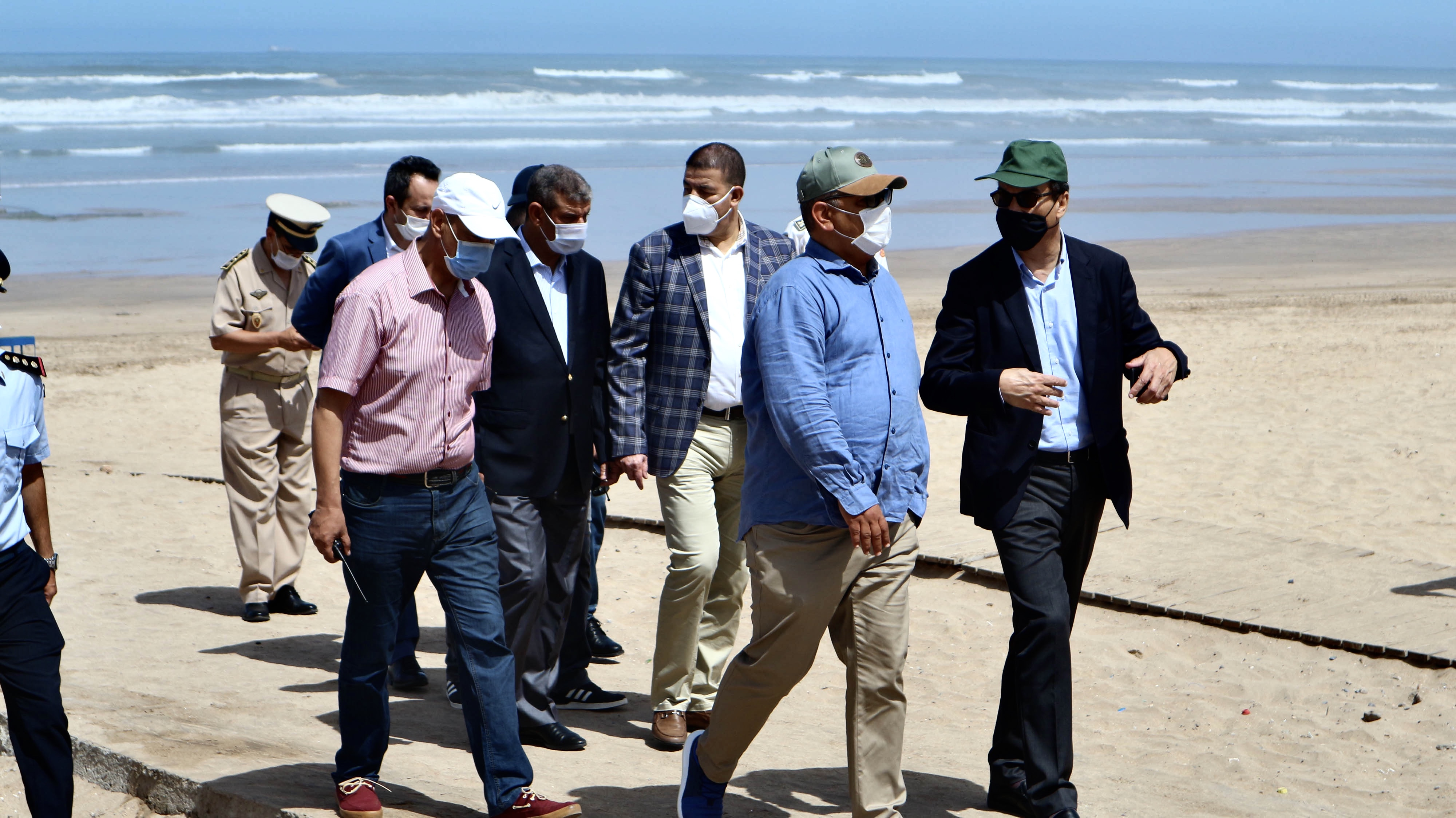 Saïd Ahmidouch, Wali de Casablanca en visite d'inspection à la plage Nahla