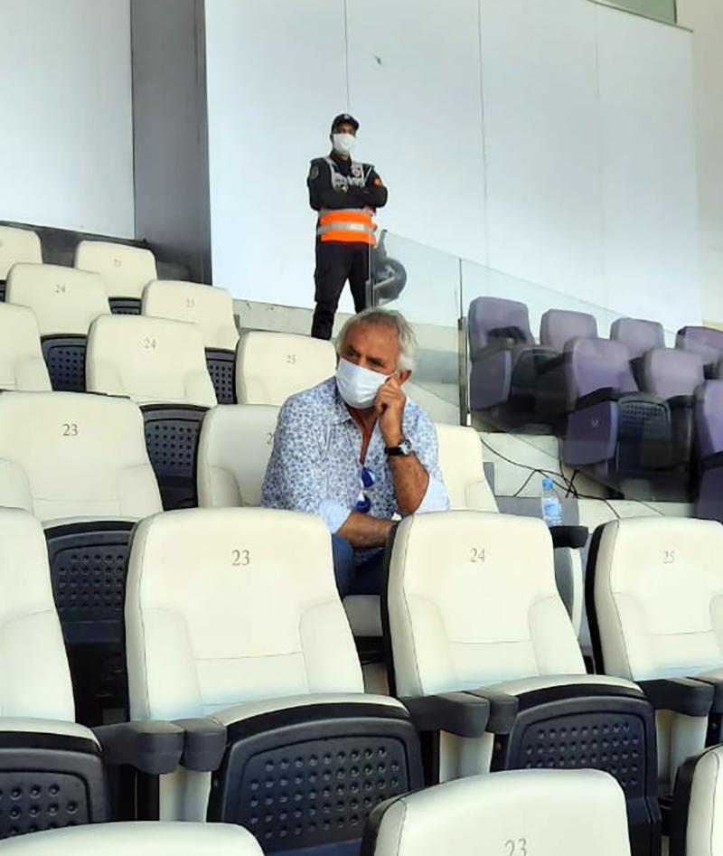 L'entraineur national a suivi ce clasico depuis les tribunes