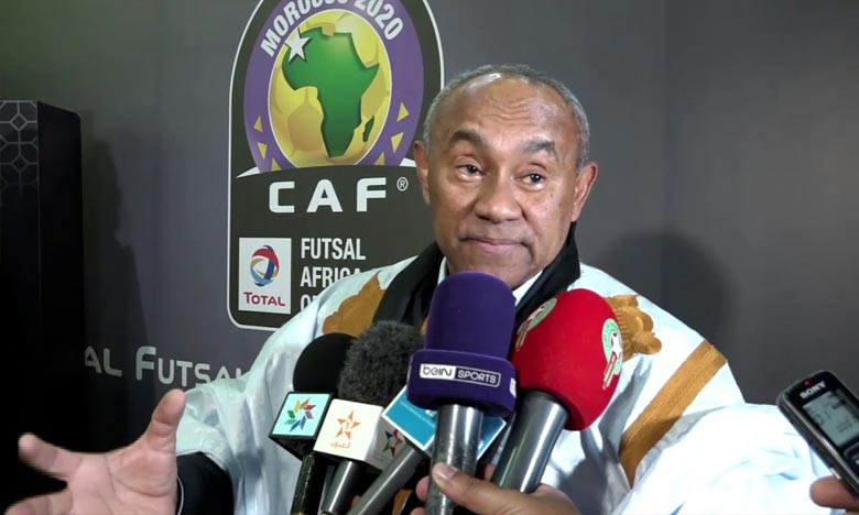 Lle Malgache Ahmad Ahmad, l'actuel président de la CAF