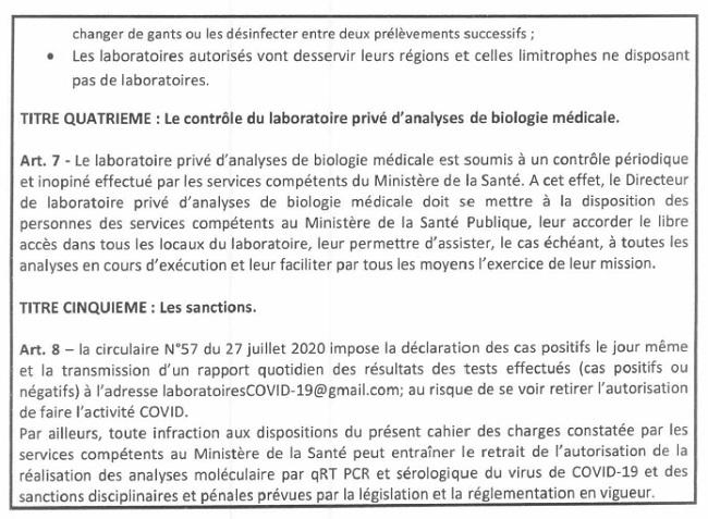 Covid-19 : Les laboratoires privés peuvent désormais diagnostiquer les non-voyageurs