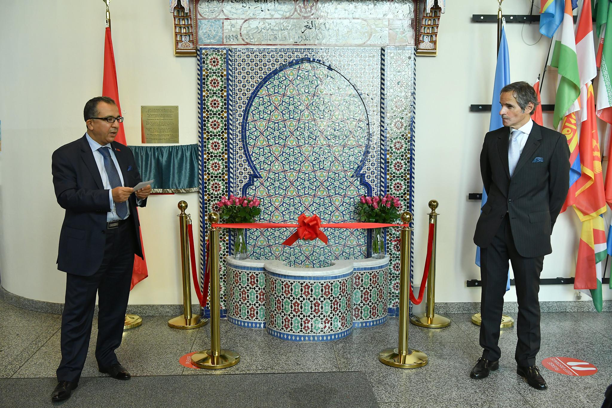 Le Maroc inaugure une fontaine de zellige restaurée au siège de l'AIEA