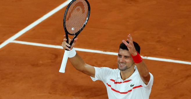 Tennis : À Roland, Djokovic impressionnant et convaincant
