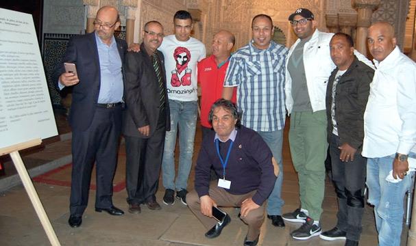 Saïd Dhoura en compagnie des frères Achik, Mohamed Mesbahi, Jaoui…Tous des champions de renommée mondiale issus de la Ligue de la Chaouia.