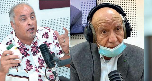 MM. Mohamed Moufid et le Docteur Fouad Kamal au micro de Médina-FM. Phs Laglag