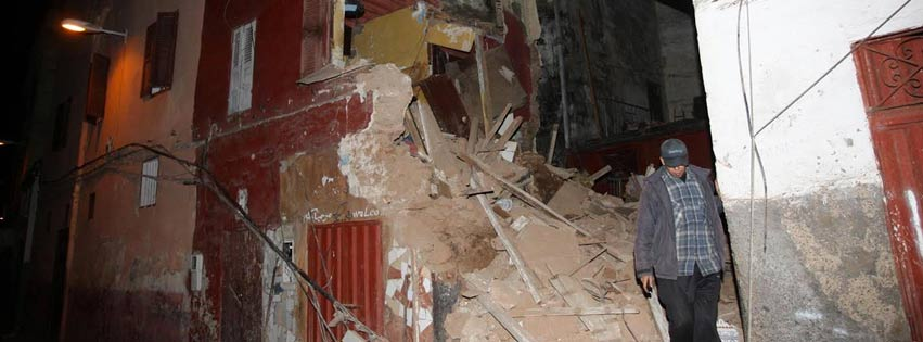 Casablanca: Effondrement partiel de deux maisons