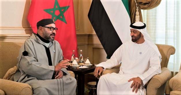 Sa Majesté le Roi Mohammed VI et Son Altesse Cheikh Mohammed Bin Zayed Al-Nahyane.
