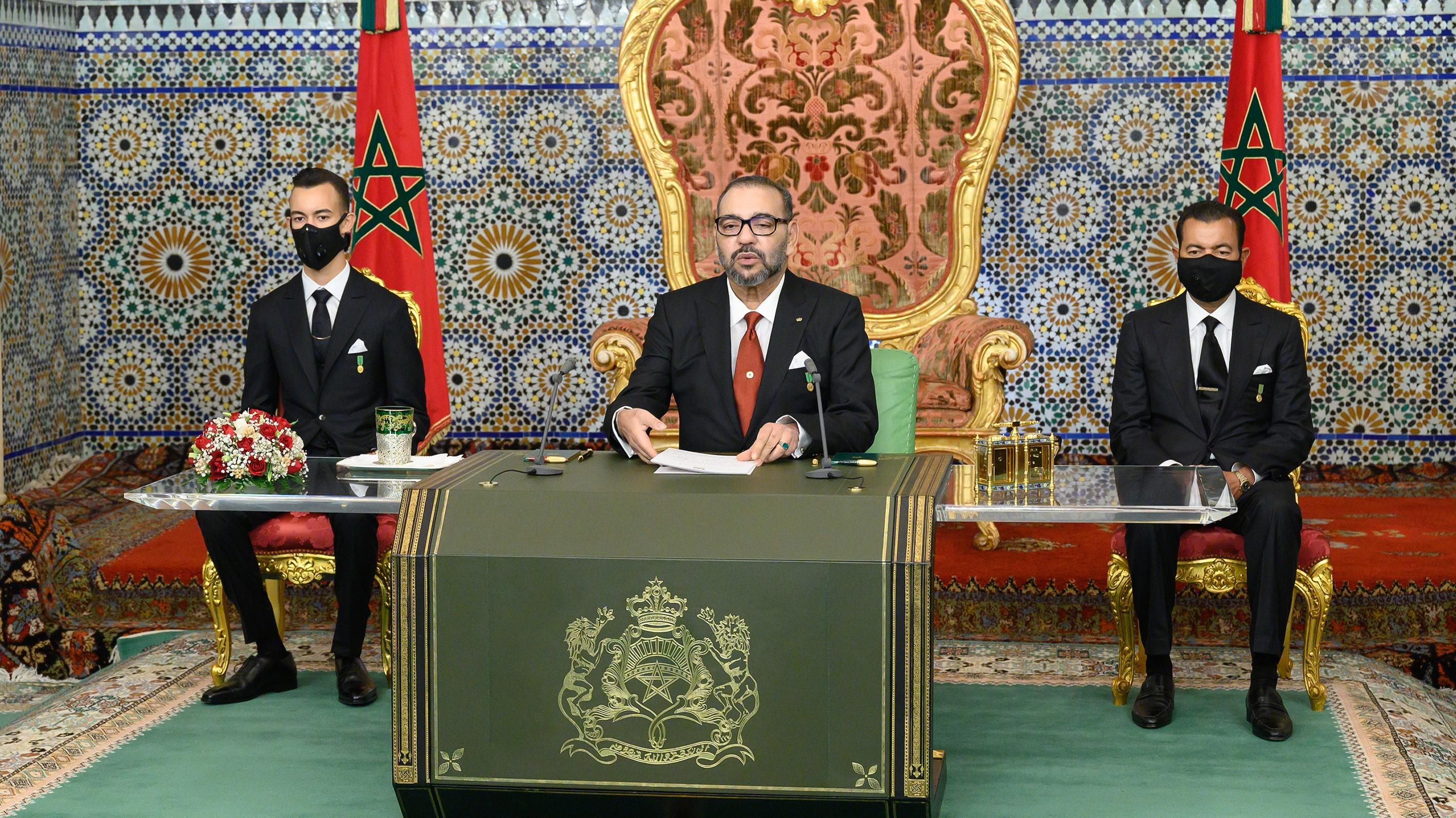 SM le Roi Mohammed VI adresse un discours à la Nation à l'occasion du 45-ème anniversaire de la Marche Verte.