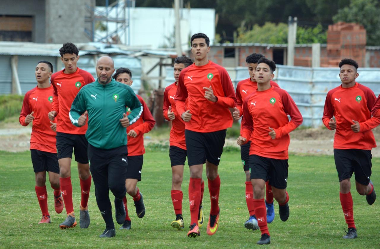 Concentration de l'équipe nationale des U17 : Encore mineurs, les joueurs sont accompagnés par des parents !