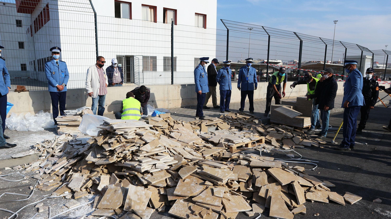 Port de Casablanca : Mise en échec d'une tentative de trafic de 2 tonnes et 360 kg de chira (images)