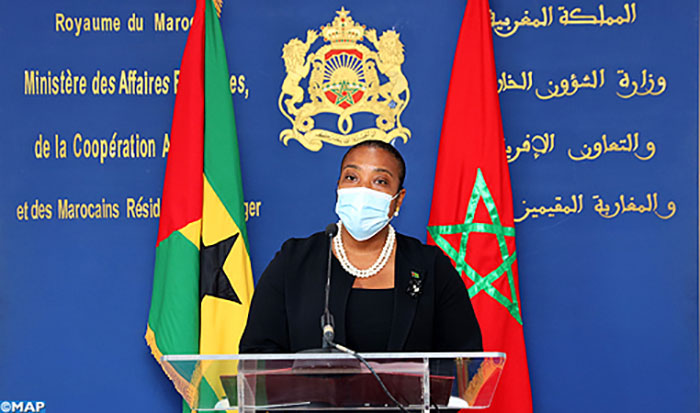 La chef de la diplomatie santoméenne se félicite des relations avec le Maroc