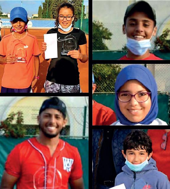 Les différents vainqueurs et finalistes du tournoi interne de l'ACSA.