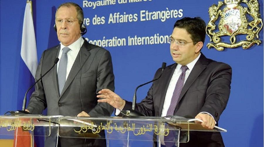 Bourita s'entretient avec son homologue russe Serguei Lavrov