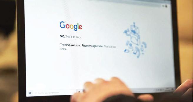 Panne mondiale signalée sur Google