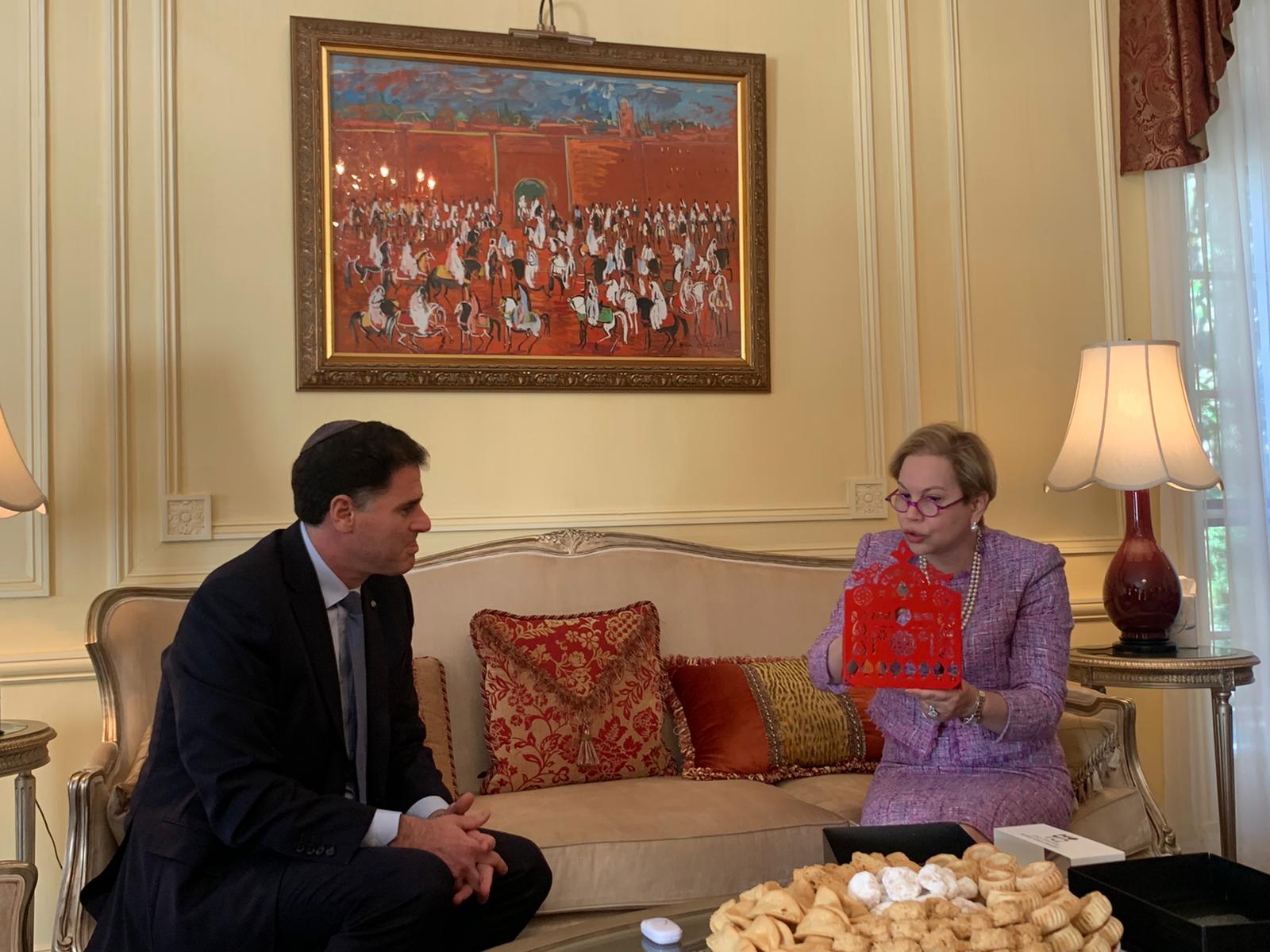 L'Ambassadrice marocaine à Washington reçoit son homologue israélien