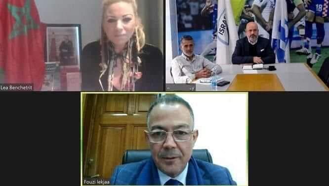 Lekjaâ s'entretient, en visioconférence, avec le président de la Fédération Israélienne de Football